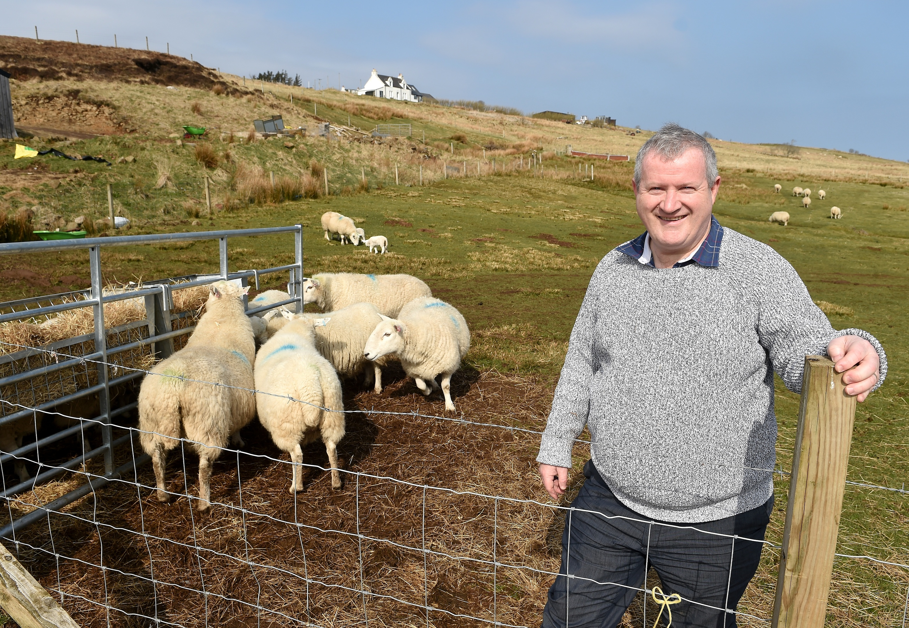 Ross, Skye and Lochaber MP, Iain Blackford, at home on his croft in Knockbreck