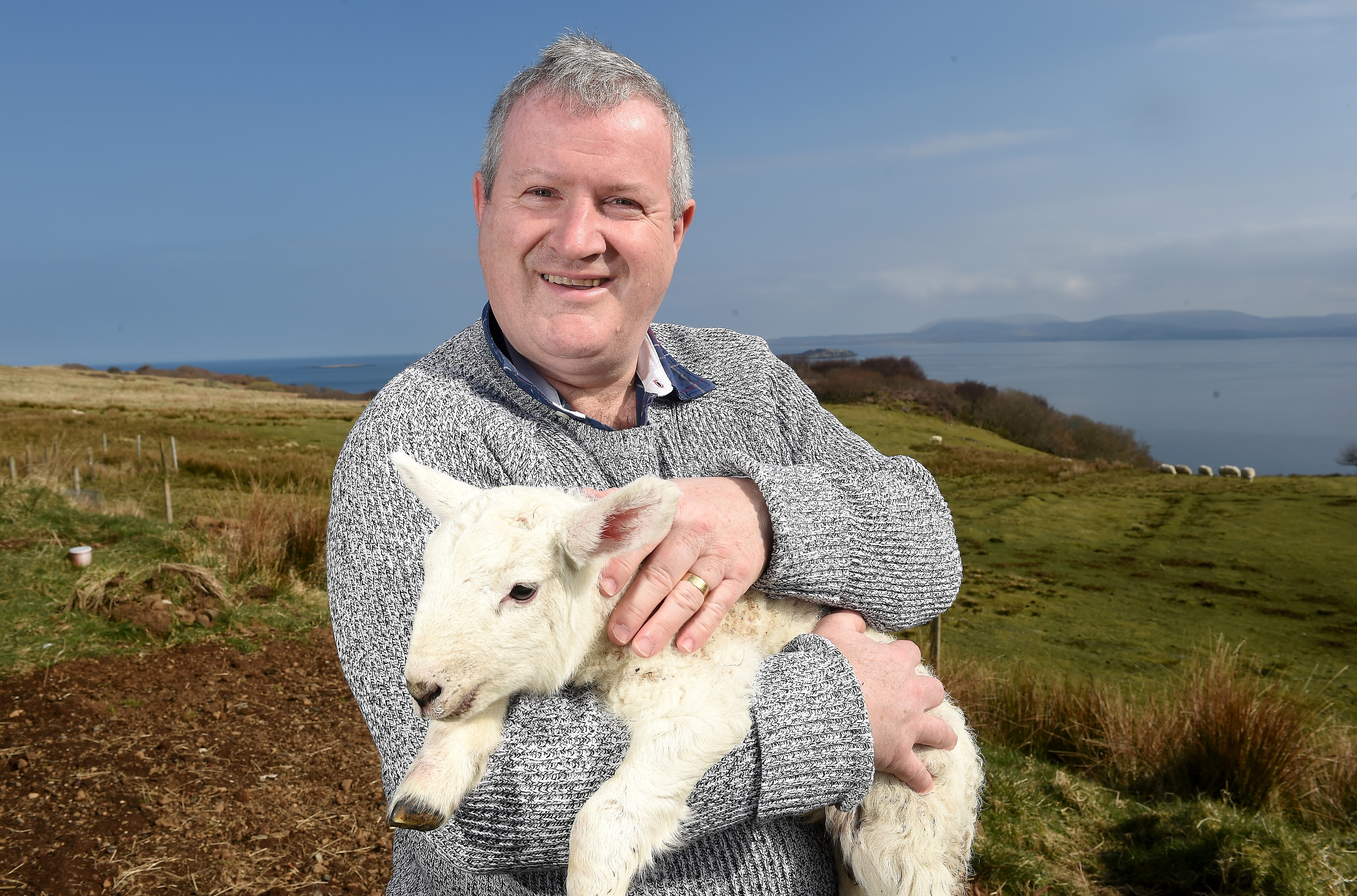 Iain Blackford at home on his croft in Knockbreck