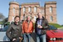Richard Hammond, James May and Jeremy Clarkson finished their North Coast 500 filming at Inverness Castle yesterday morning