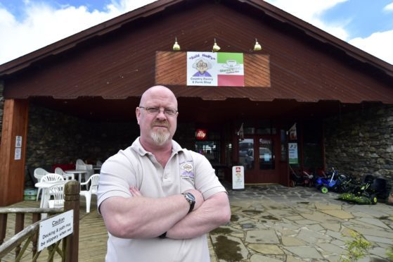 Auld Nell's owner Marc Williamson reckons that the road closure between Turriff and Aberchirder and the road outside his premises could cost him over £1000 in lost revenue.