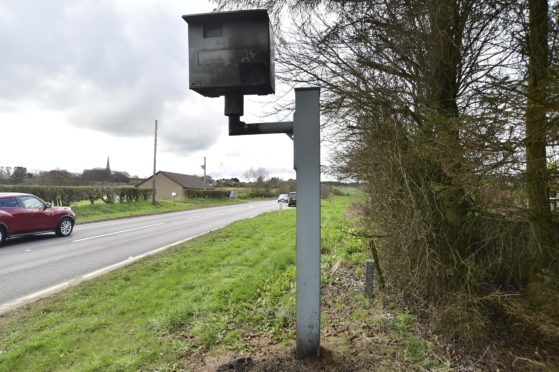 Vandals set fire to a speed camera on the A90 north of Rathen last April.