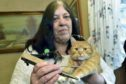 Stephanie Drake with her cat Rossie