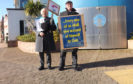 Rev David Fraser and Angus Macmillan during their protest.