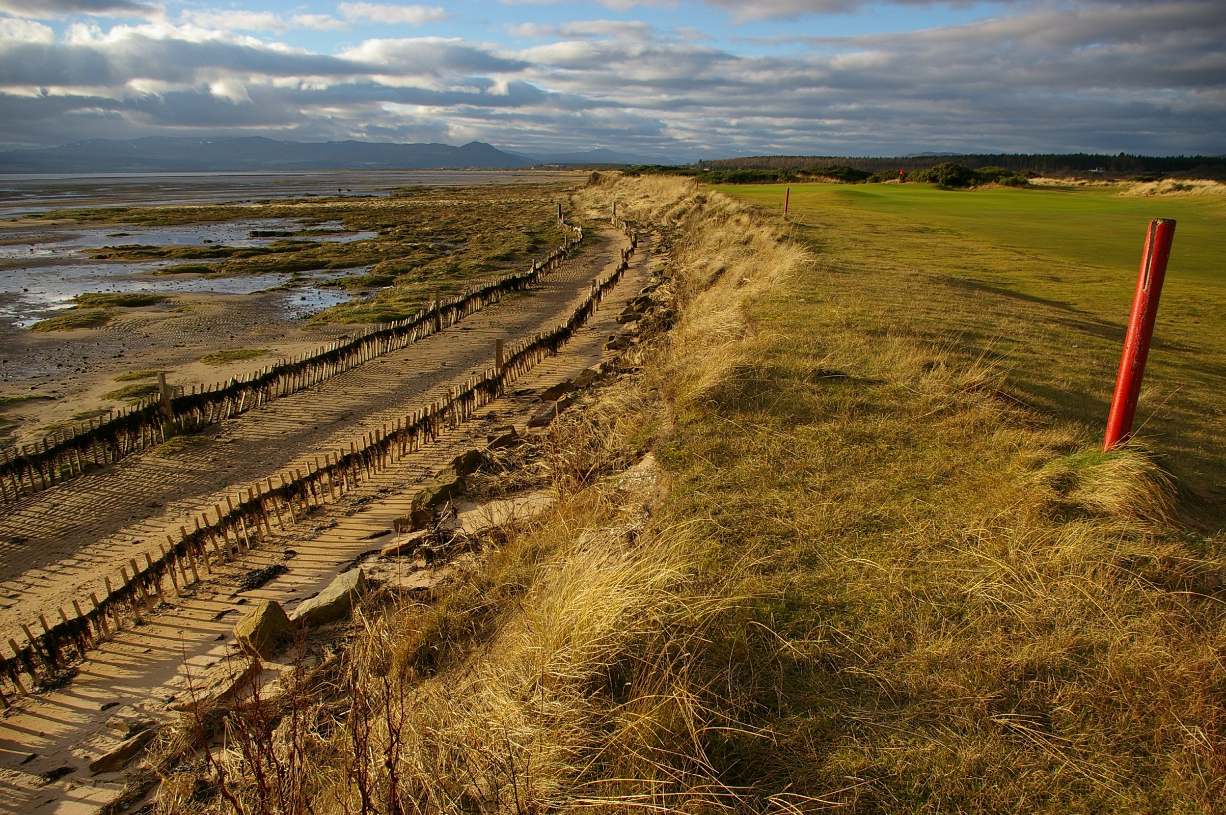 The 10th hole of the Royal Dornoch Golf Club's Struie Course has become susceptible to flooding