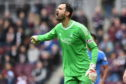 Joe Lewis in action for Aberdeen on Saturday.