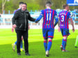 Inverness CT manager John Robertson at full-time.