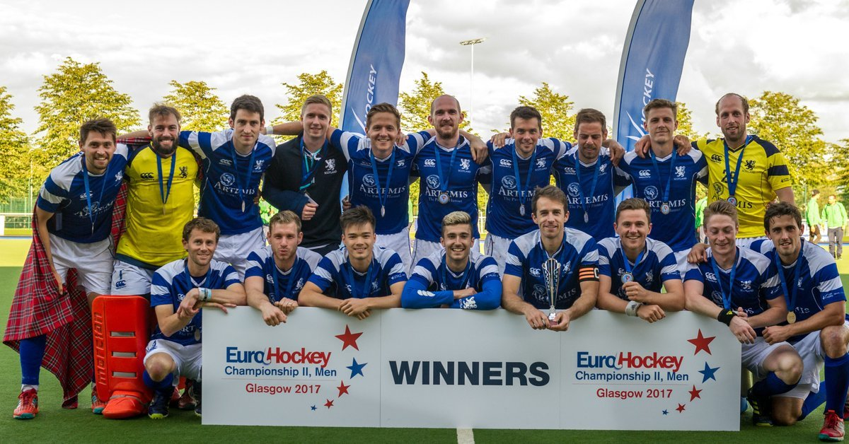 Jamie Wong (front row, third from left) is part of Team Scotland's hockey squad Down Under.