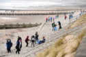 Surfers Against Sewage organised a beach clean up, at Aberdeen Beach.