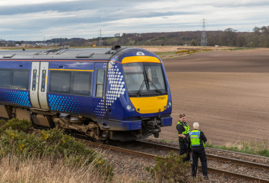 Collision between Cows and a Train between Elgin and Lhanbryde, Moray, Scotland.