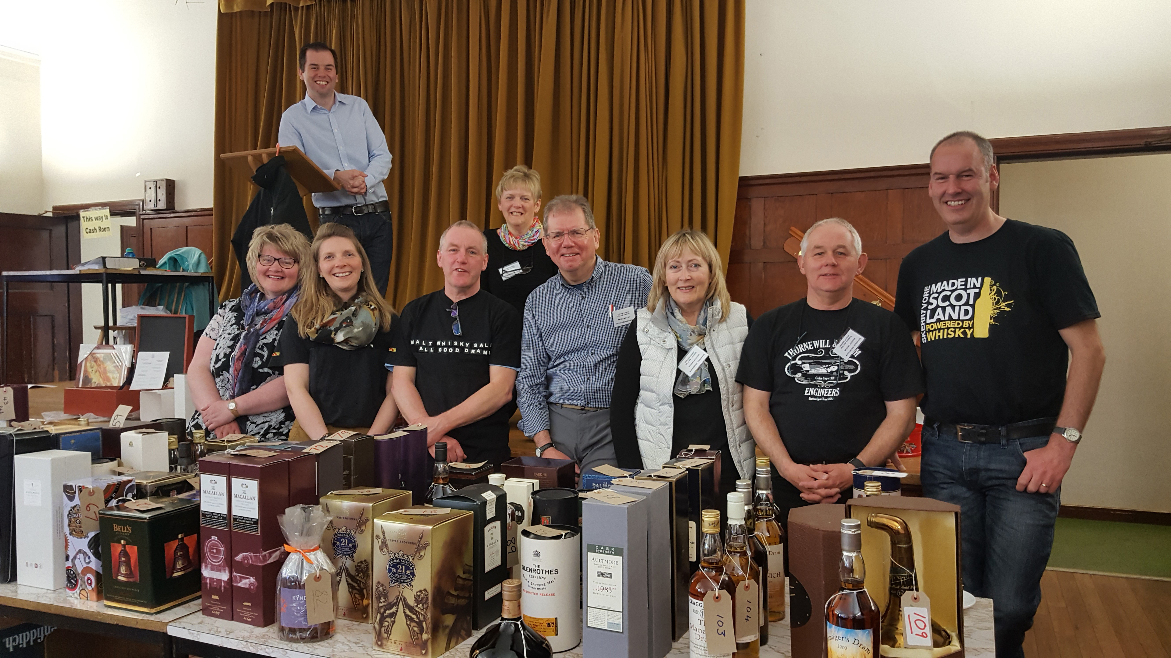 The 2017 auction team for the Craigellachie Whisky auction