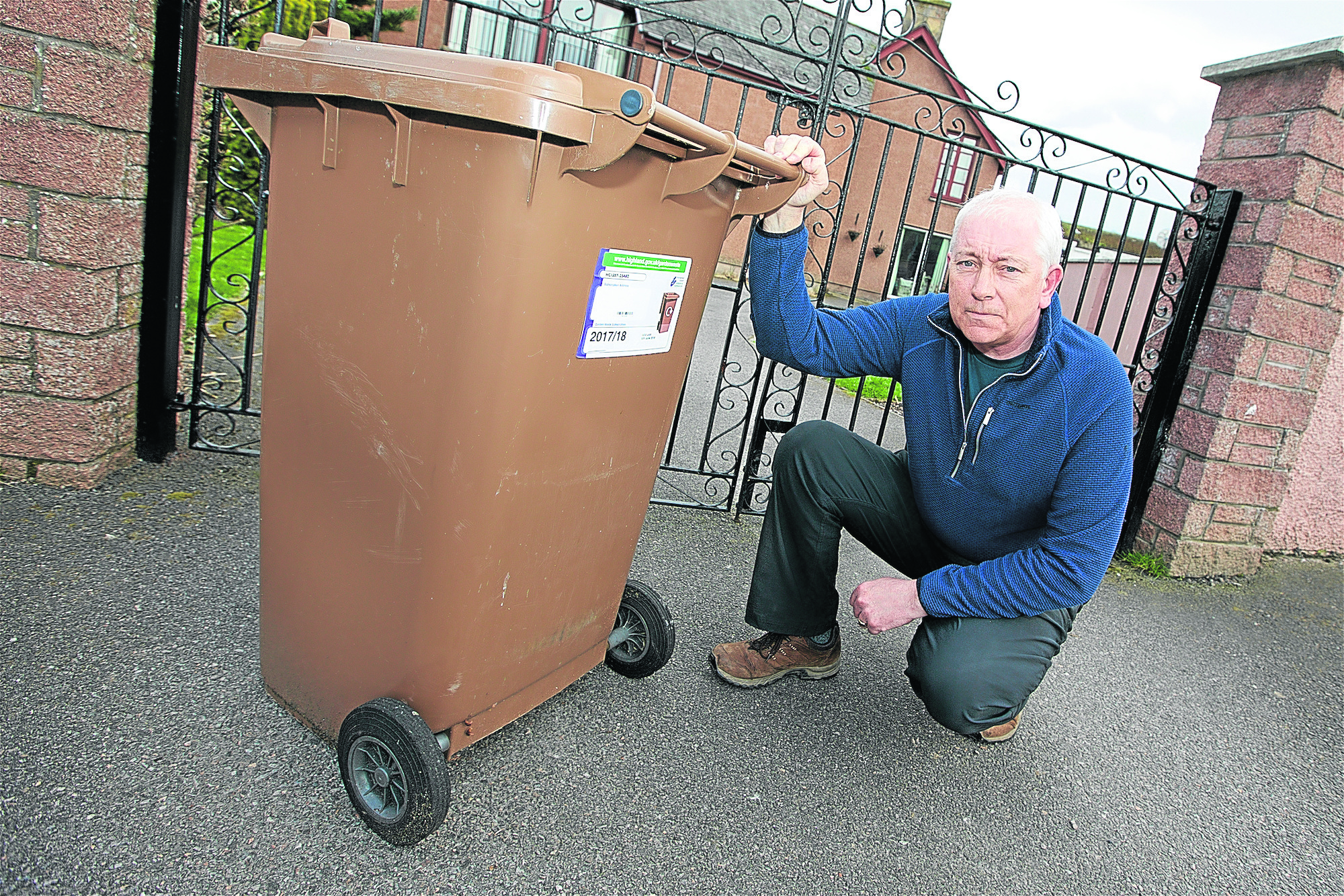 Jack Shepherd of Dingwall is angry that the council increased the prices for the brown bin collection in the area.