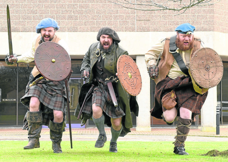 Battle with Highland Council to protect Culloden are Grant MacGregor. Andy McAlindon and Steve MacLennan.