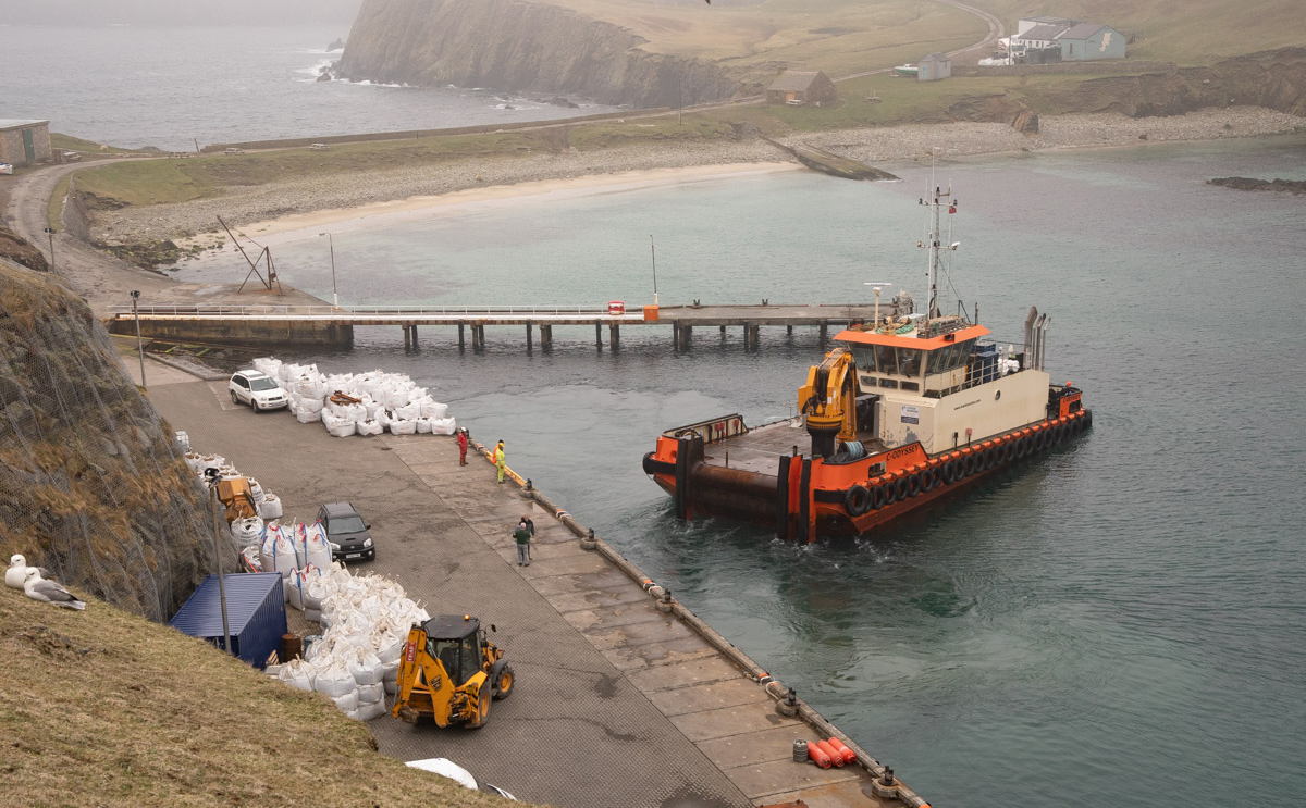 Work is progressing well on the remote island's new electricity scheme after the community group Fair Isle Electricity Company secured its full £2.65 million funding package last year.