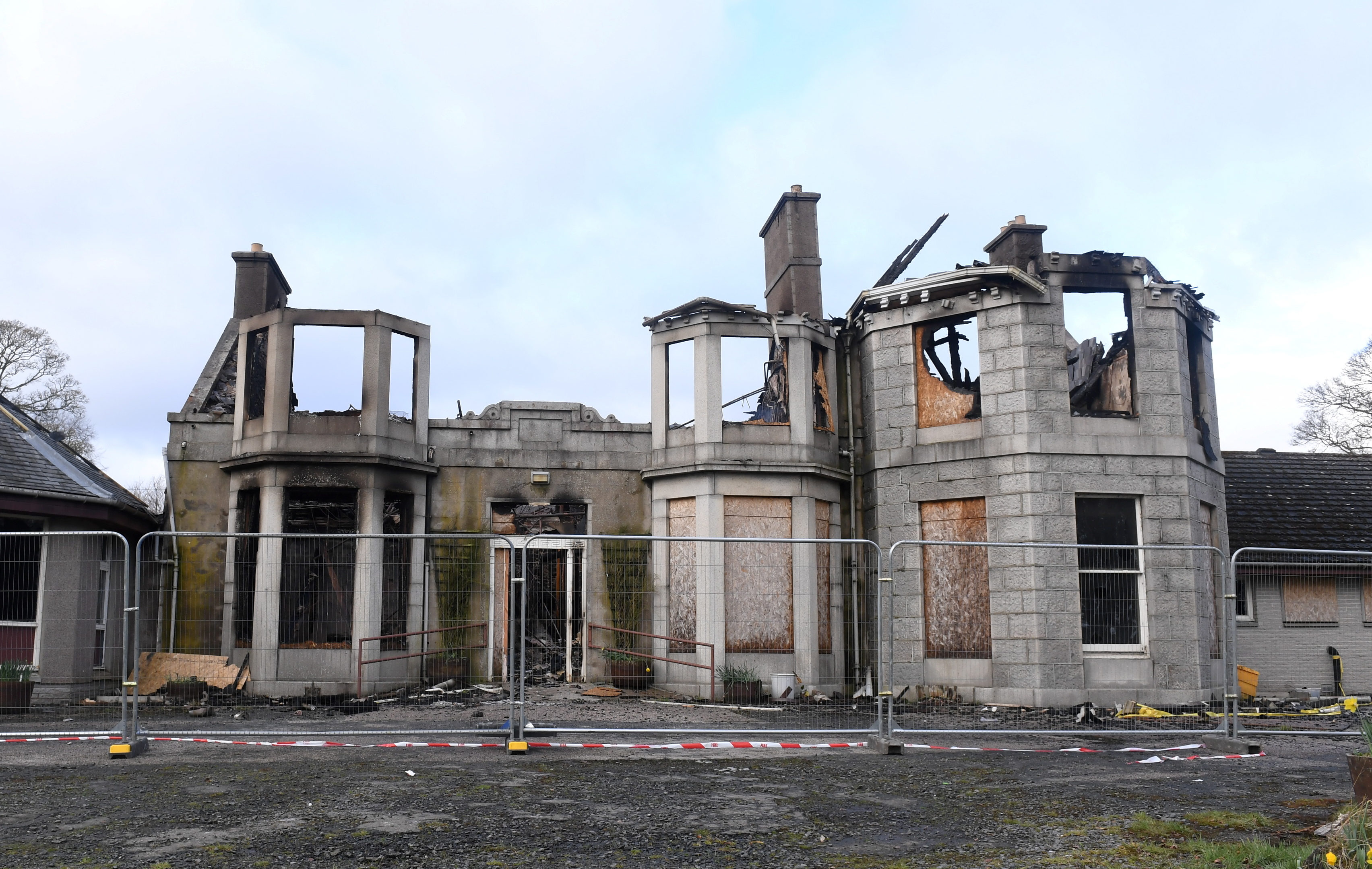 Aftermath of the fire at Blythewood House, Port Elphinstone. Picture: Chris Sumner
