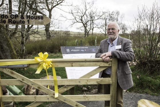 Formartine Partnership chairman John Loveday pictured at the gateway to the new Haddo to Methlick footpath.