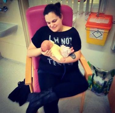 Nikki Warham gave birth to her daughter just three weeks ago by emergency C-section.