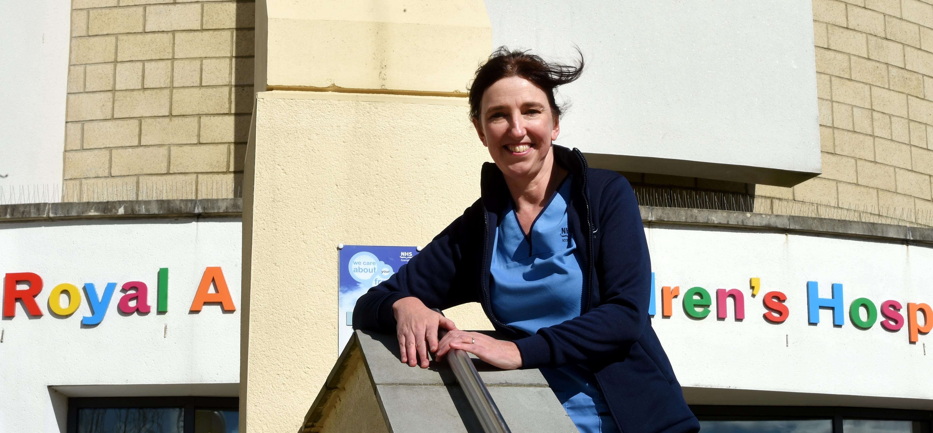 Allergy nurse consultant, Lorraine Clark, at Children's Hospital, ARI, Aberdeen.  Picture by Jim Irvine