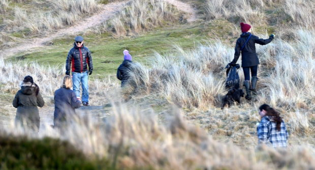 A clean-up at the Balmedie Country Park beach area earlier this year. Picture by Jim Irvine.