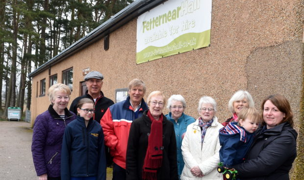 Looking for to get a new roof are the members at Fetternear Hall, Kemnay.