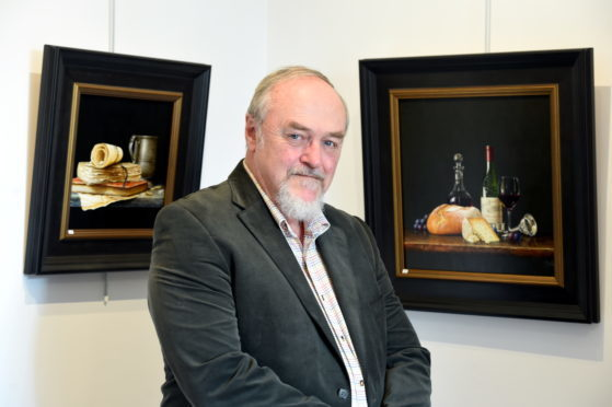 An exhibition of paintings by Australian artist Ian Mastin at Tolquhoun Gallery near Tarves. Picture by Jim Irvine.