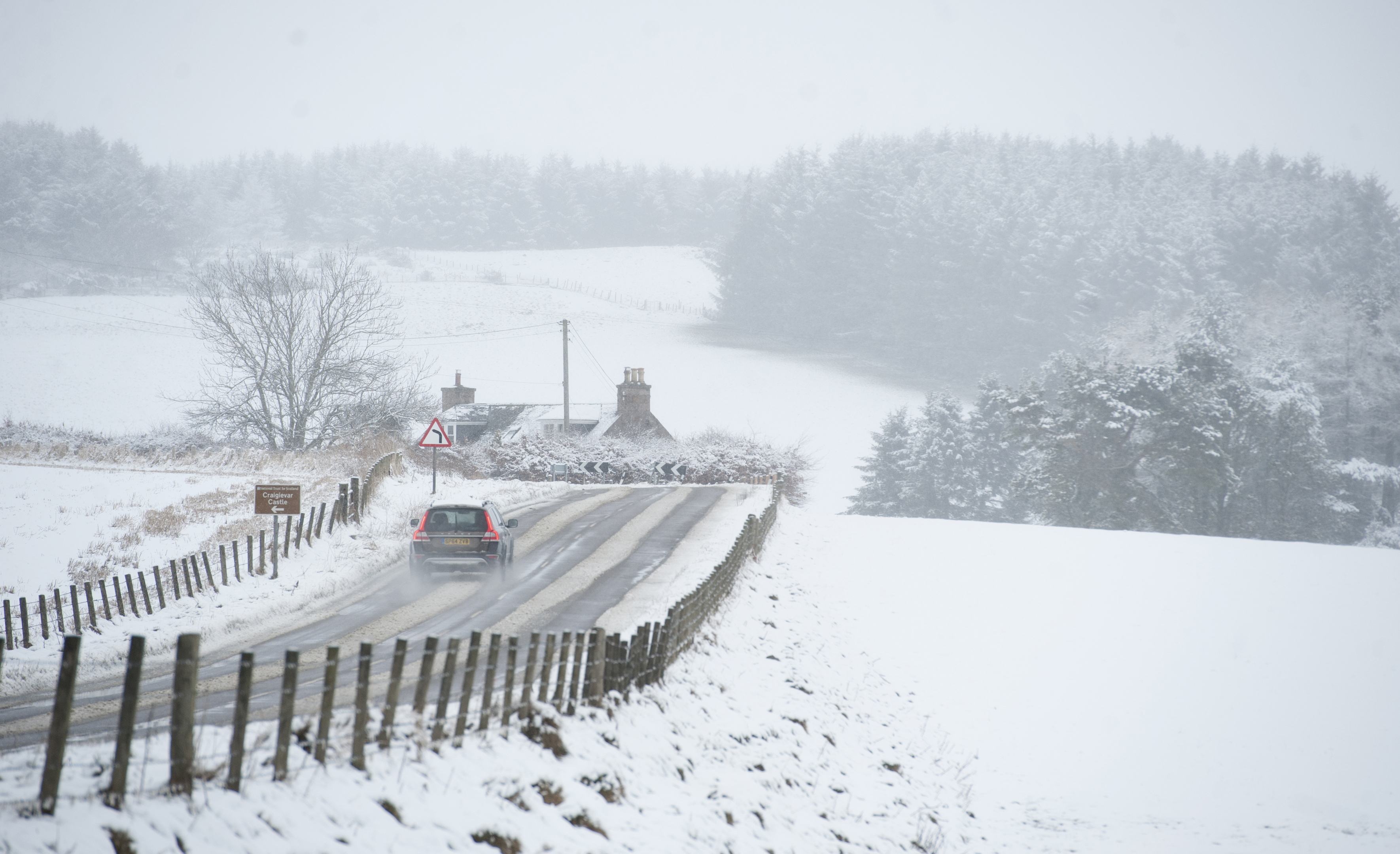 Snow is expected across the north and north-east.