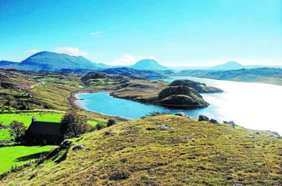 Loch Inchard near Kinlochbervie.