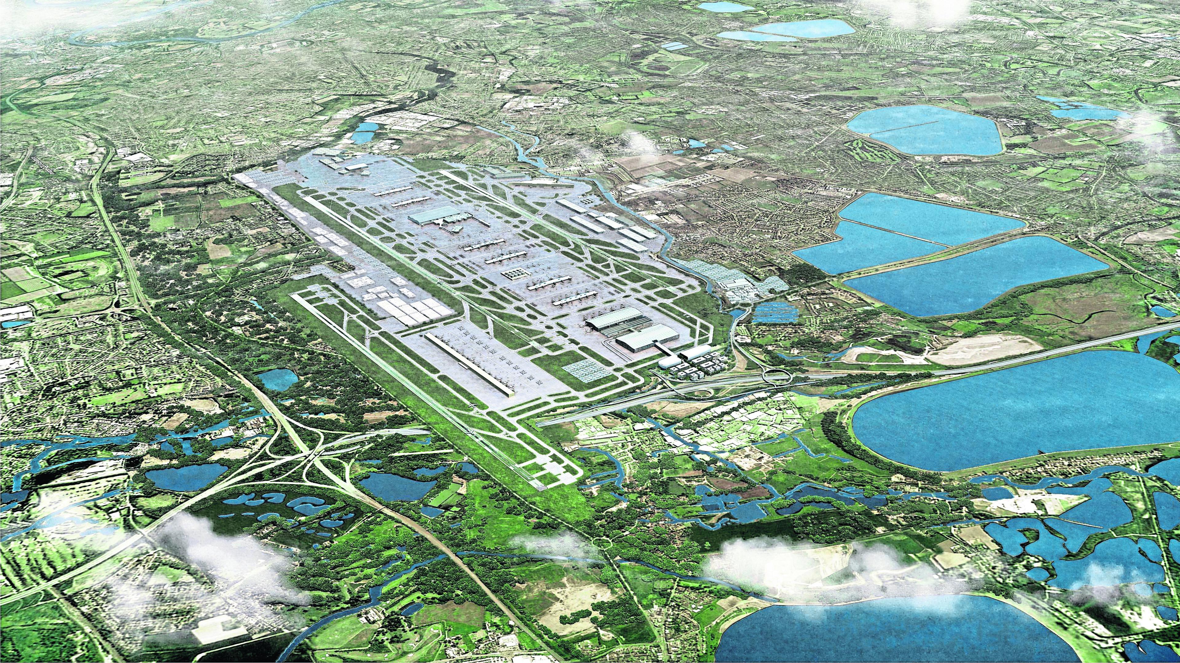 Artist's impression of Heathrow's third runway