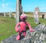Morph at the Calanais stones, Western Isles.