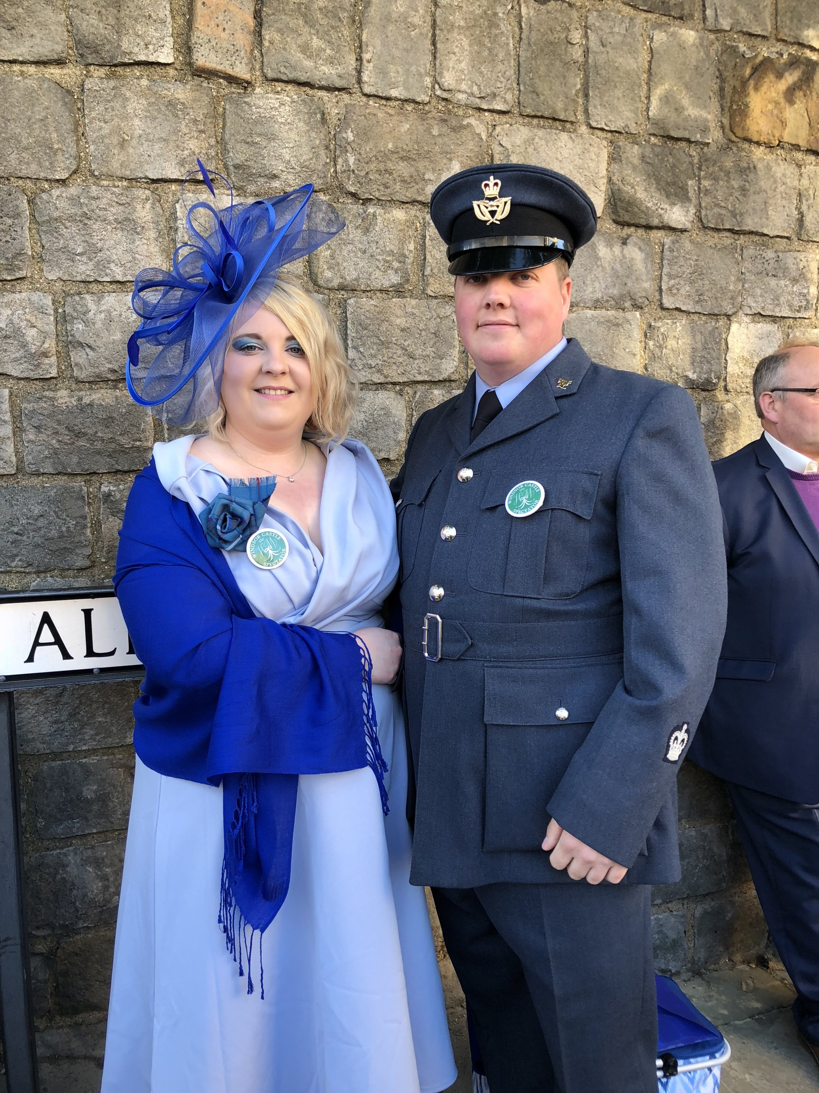 Warrant Officer Scott Ross from Brechin, with his wife Nicola Ross.