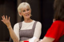 Judy Murray voiced support for work to improve two tennis courts at The Den play park in Auchenblae