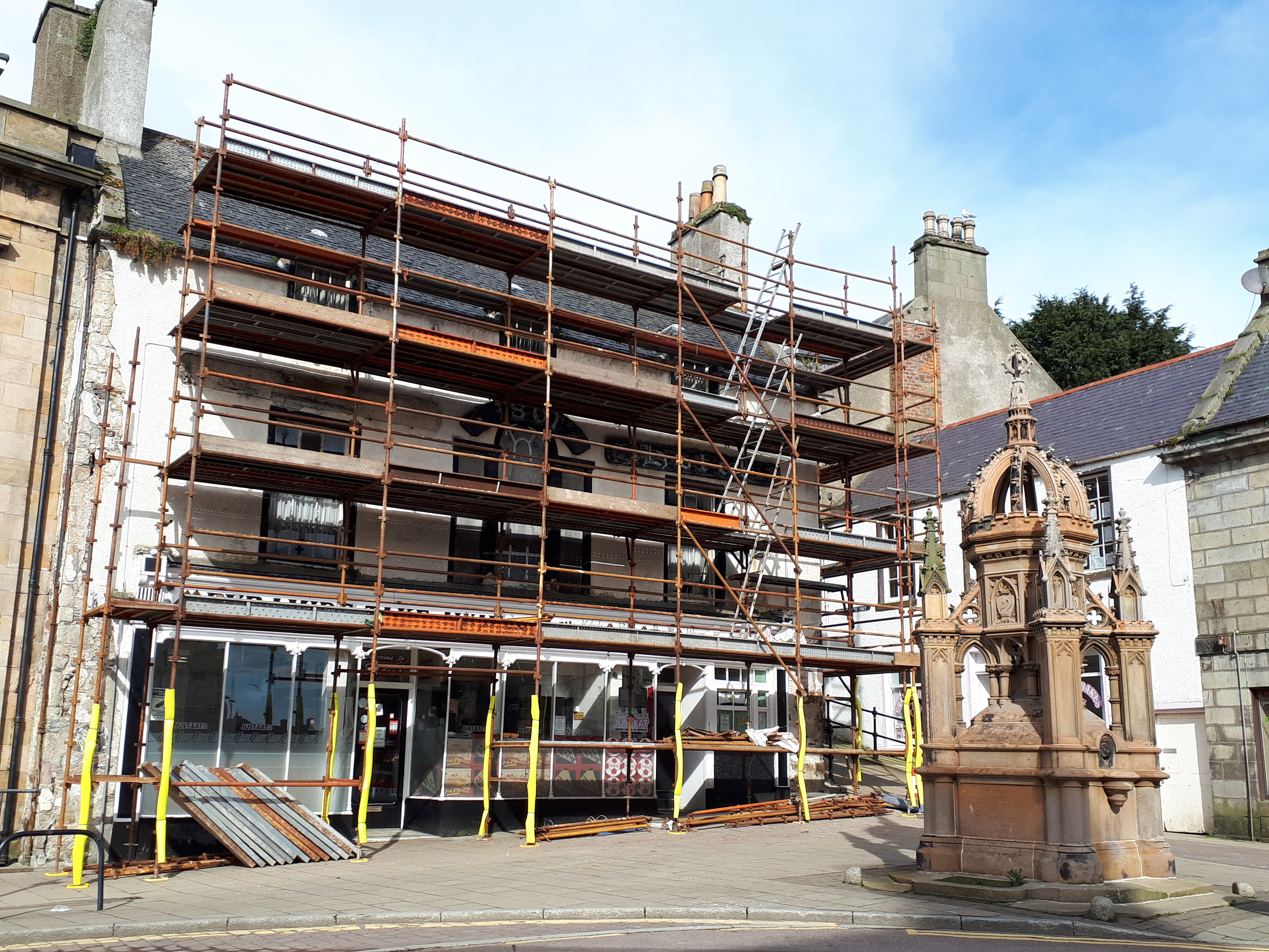 Works begins on Banff's historic Tolbooth Hotel.