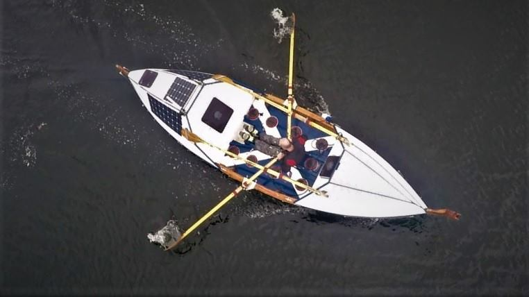 Duncan Hutchison is rowing across the Atlantic from New York to Lochinver in a boat he built himself