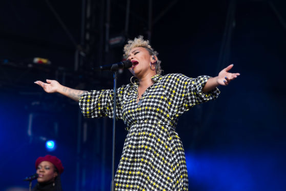 Emeli Sande performed at Scone Palace part of BBC's Biggest Weekend.