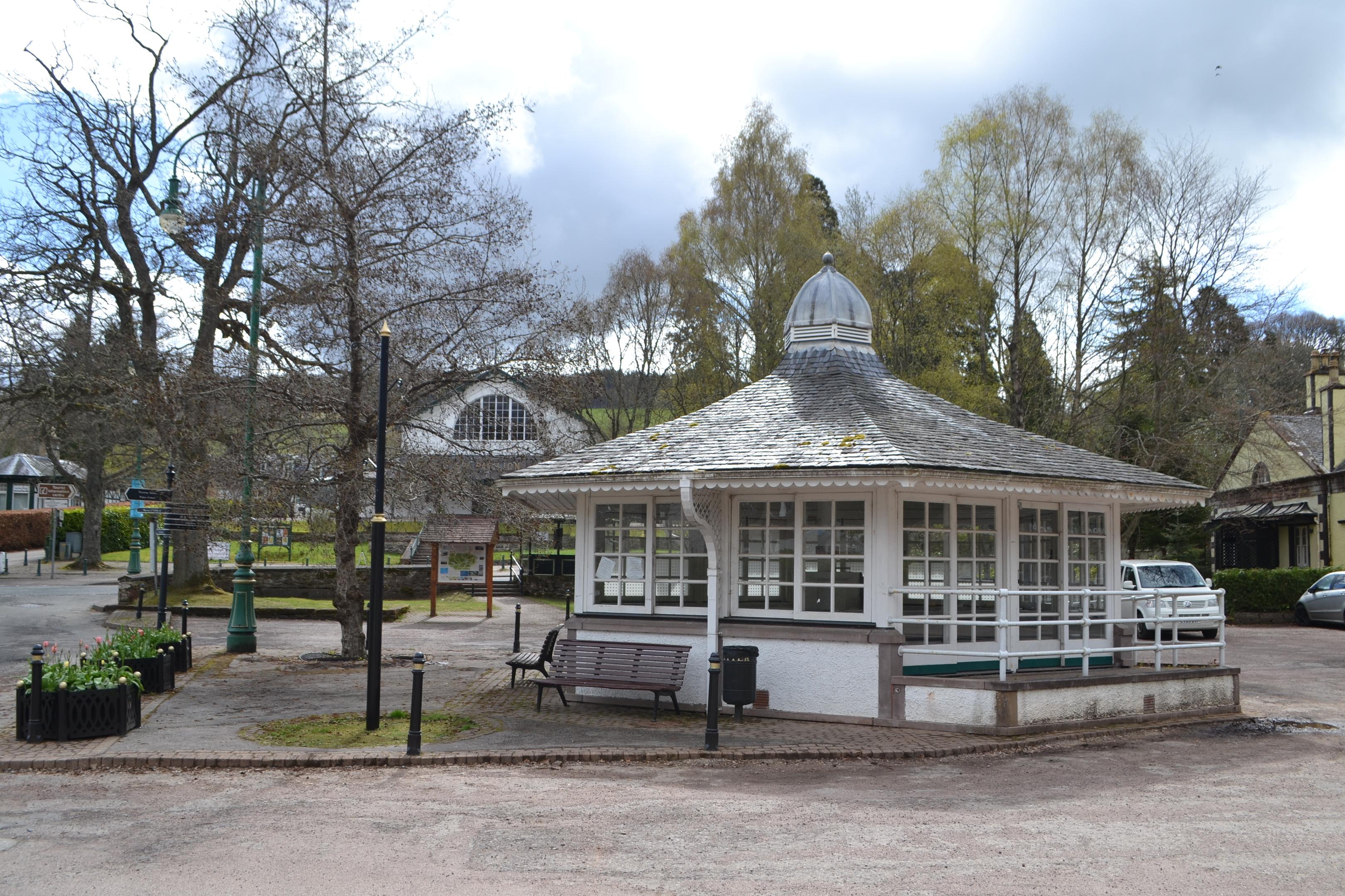 The former water sampling pavilion in Strathpeffer