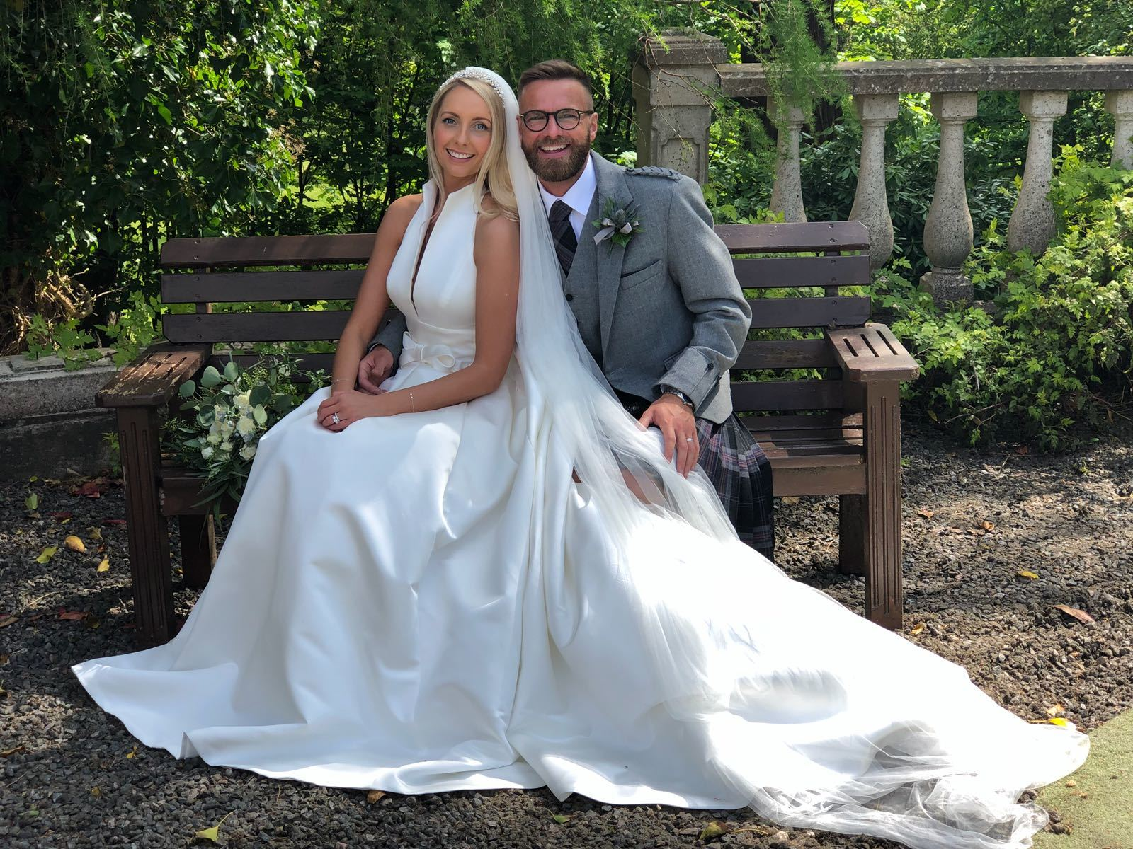 Ria Cable and Mark Petrie married the same day as Prince Harry and Meghan Markle