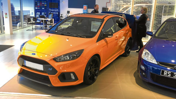 Vicki collects her 370bhp Heritage Edition RS Focus