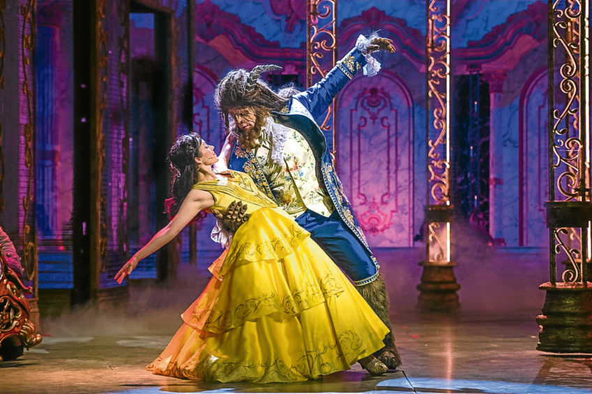 The Beauty and The Beast stage show on board the cruise ship