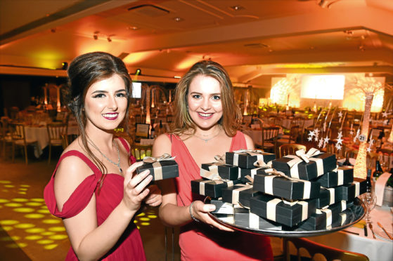 (from left) Molly Ball and Amelia Wilson from Rox at the Press and Journal Gold Awards.   Picture by KEVIN EMSLIE