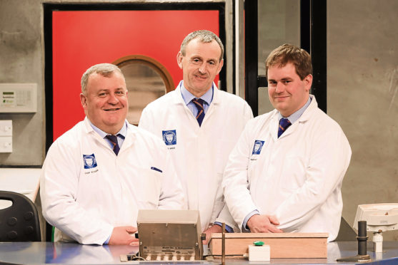 Colin Slessor, John Angus and Tim McDonald from Aberdeen and Northern Marts