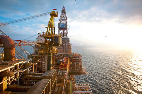 Nexen's Scott Platform in the North Sea. The Scott offshore rig is approximately 200 km north east of Aberdeen UK.    (handout pic) BLACK GOLD