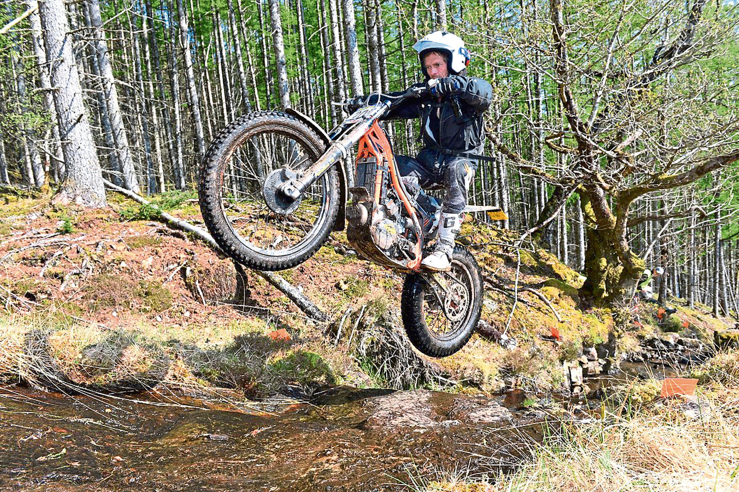 Action from the Scottish Six Days Trials.