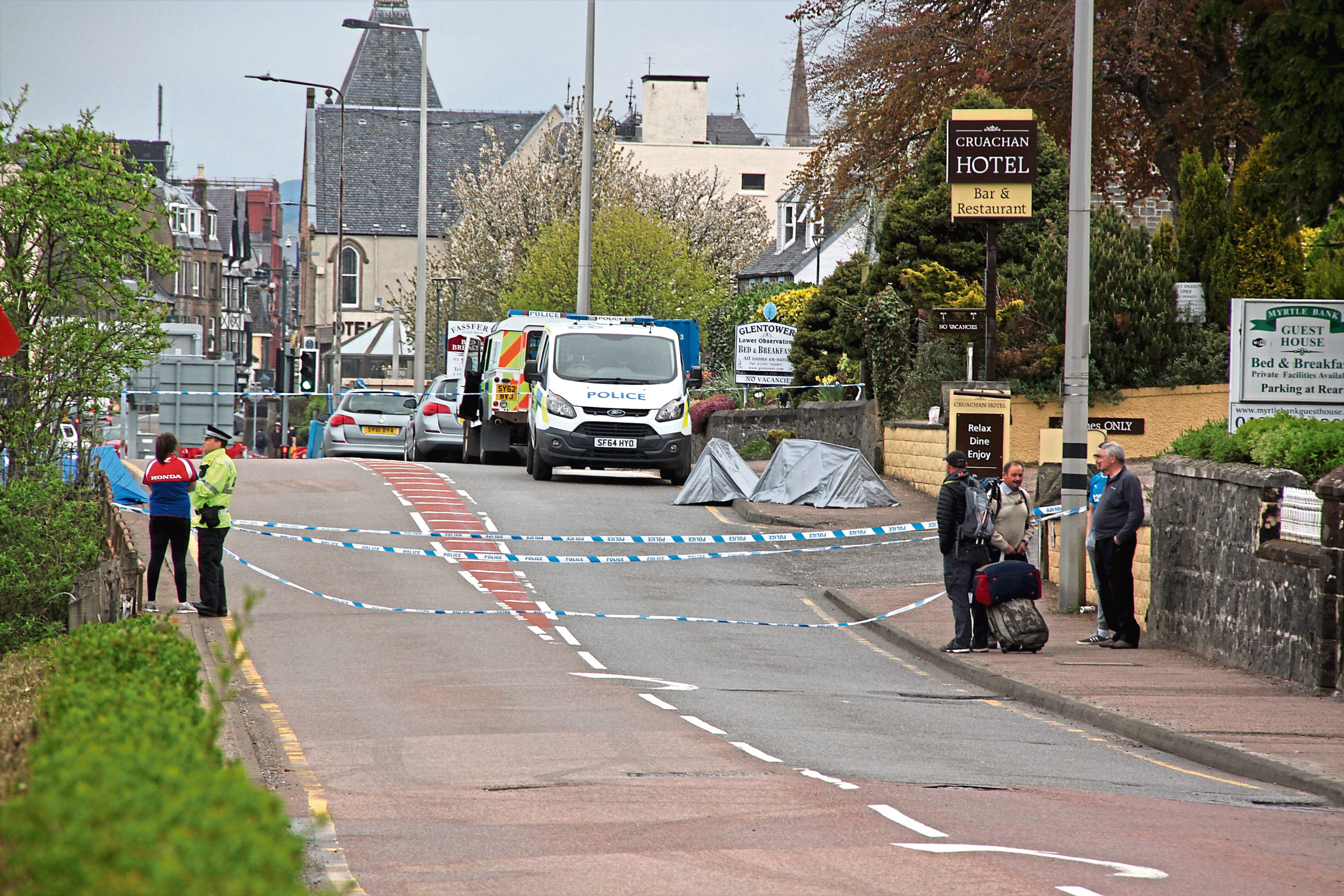 The scene of the accident on Sunday morning. Picture by Anthony MacMillan Photography
