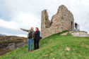 Wildland Ltd chief executive, Tim Kirkwood, with Fiona Hyslop, Cabinet Secretary for Culture, Tourism and External Affairs, Fiona Hyslop, at Castle Varrich, in Sutherland.