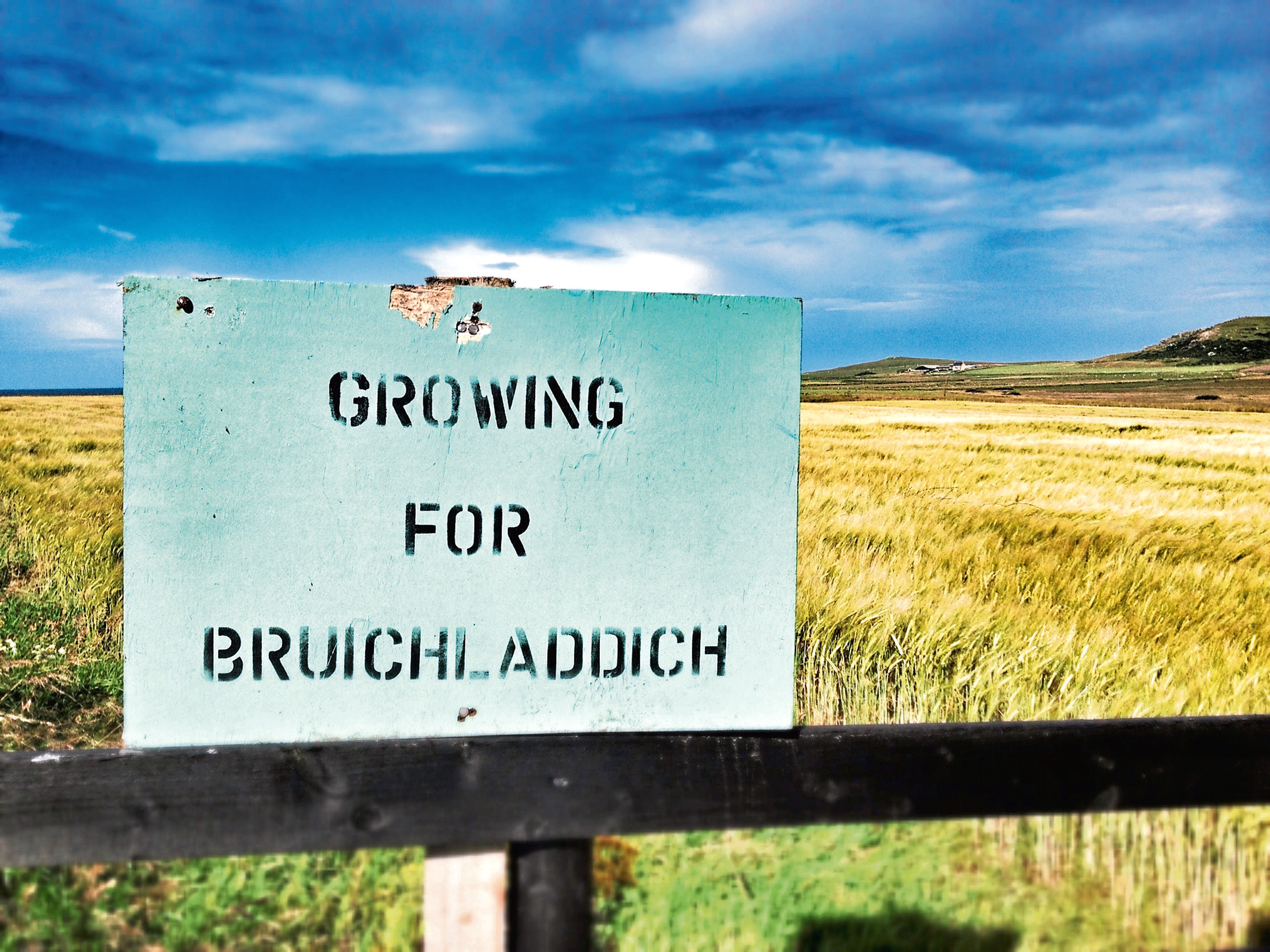 Bruichladdich sources 100% Scottish grain for its whisky.