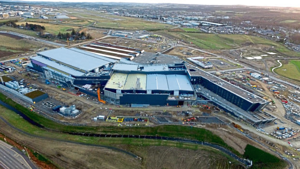 The new Aberdeen Exhibition and Conference Centre (AECC) site on A96 Inverurie Road.  Picture by Kenny Elrick.