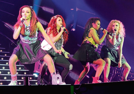 X Factor Live at AECC Aberdeen Exhibition and Conference Centre.  Winners of X Factor Little Mix  Picture by COLIN RENNIE March 13, 2012.