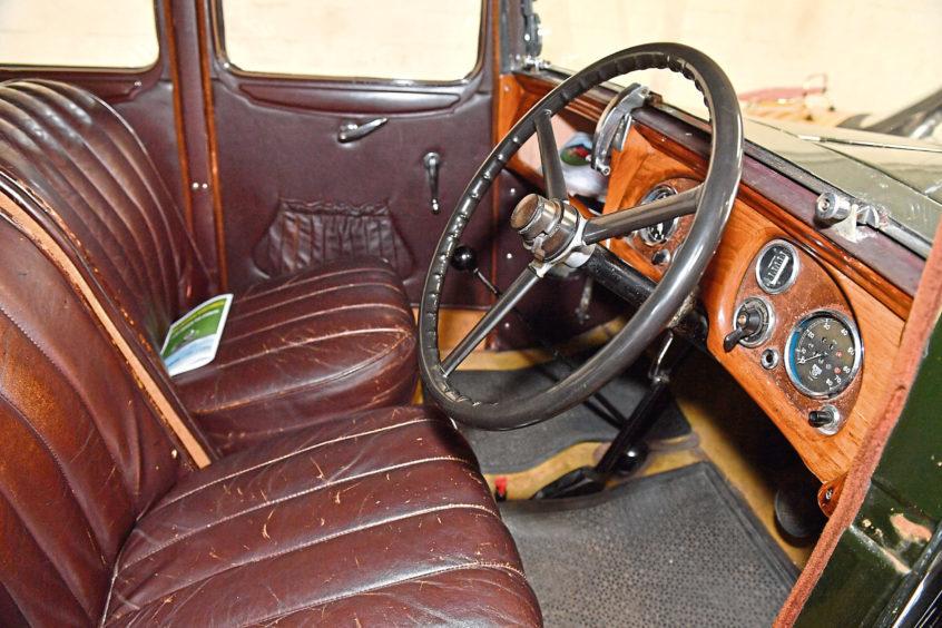 Interior of the 1934 Austin 12