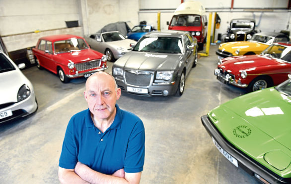 Derek Reid, of Oldmeldrum, with some of his collection