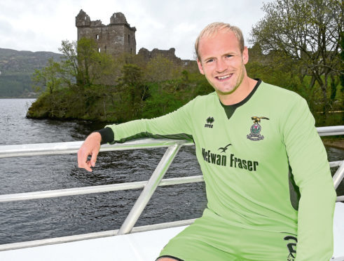 Inverness Caley Thistle launch their new strip for the forthcoming season at Loch Ness.
