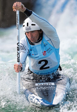 Three-time Olympic medallist David Florence in action